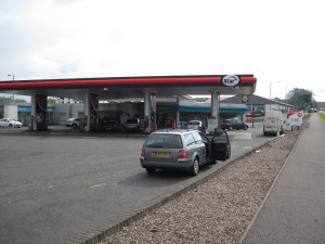 Centrica petrol station near Coleraine -  end of stage 4