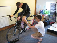 James bike fit in progress