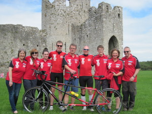 Beech Boys Tandem team at Trim Castle